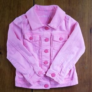 Gap Neon Pink Soft Jean Jacket